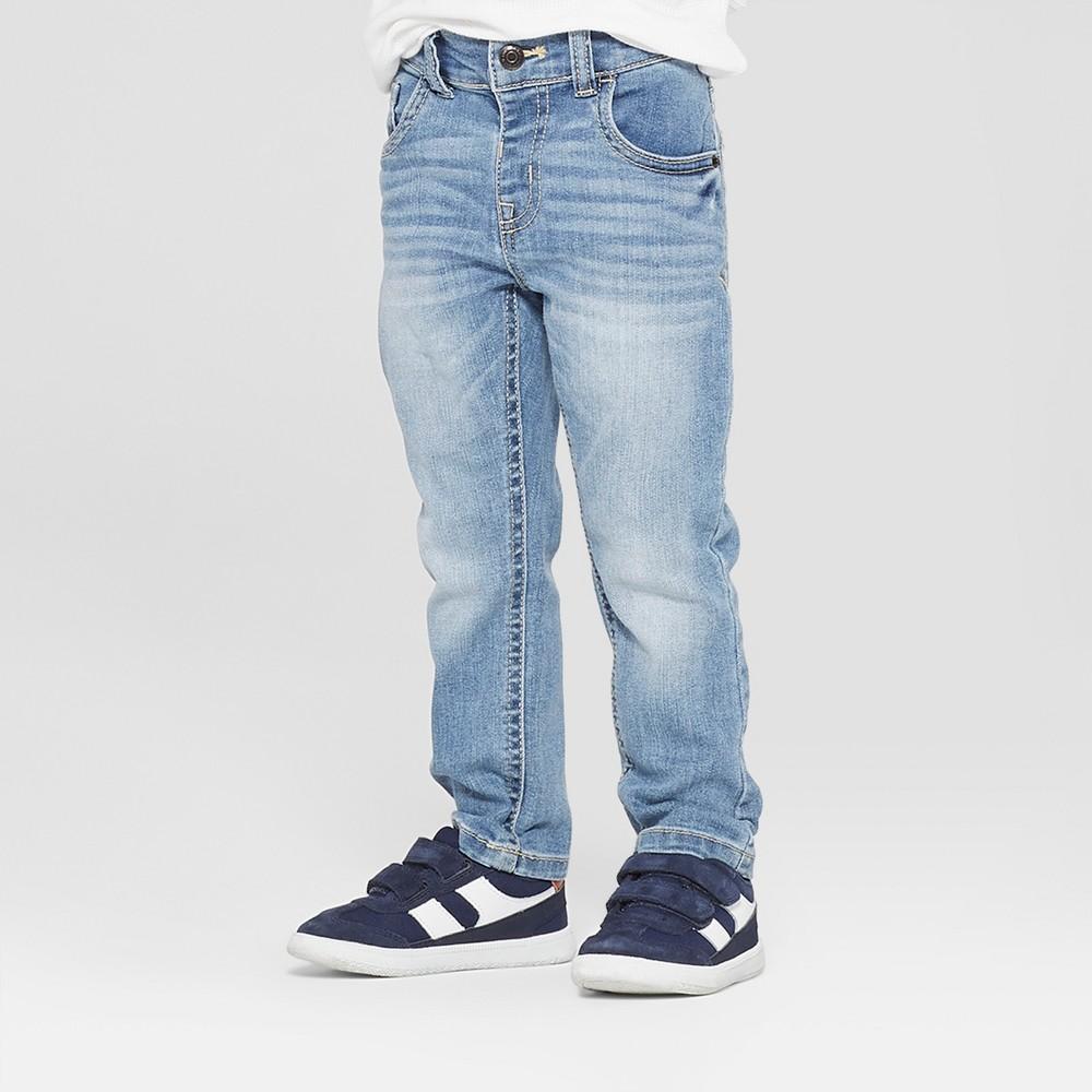 Toddler Boys' Skinny Jeans - Cat & Jack Light Blue 2T