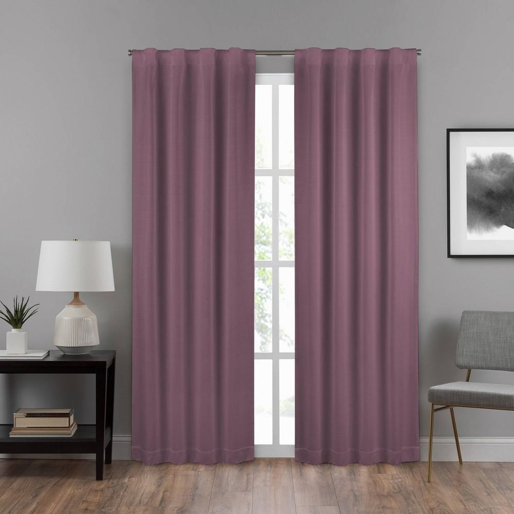 "Image of ""108""""x40"""" Summit Solid Draft Stopper Room Darkening Window Curtain Panel Purple - Eclipse"""