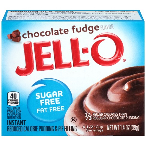 Jell O Instant Sugar Free Fat Free Chocolate Fudge Pudding Pie Filling 1 4oz Target