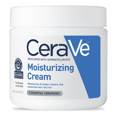 Unscented CeraVe Moisturizing Cream for Normal to Dry Skin Body and Face Moisturizer - 16oz - image 1 of 3