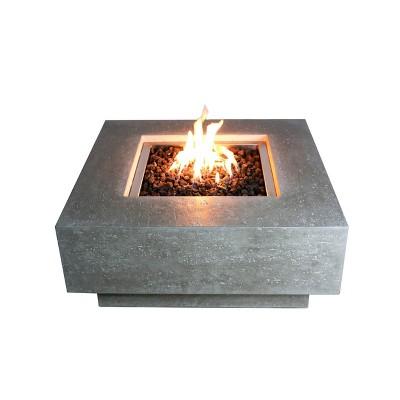"Manhattan  36"" Outdoor Fire Pit Propane Table Backyard Patio Heater - Elementi"