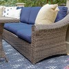 Walton 7pc Wicker Patio Sectional Set - Navy - Leisure Made - image 3 of 4
