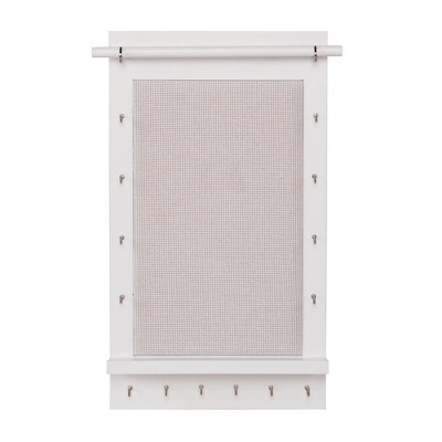 Charlotte Wall Mounted Jewelry Organizer White - 88 Main®