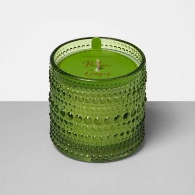 4.5oz Hobnail Textured Glass Jar Candle Palm Oasis - Opalhouse™