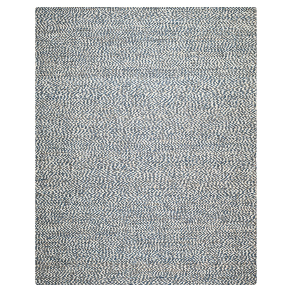 Simona Natural Fiber Area Rug - Blue / Ivory (8' X 10') - Safavieh