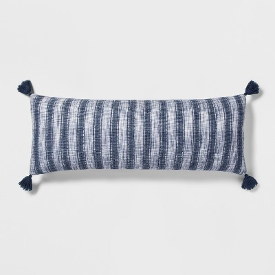Blue Stripe Gauze Oversized Lumbar Pillow - Threshold™