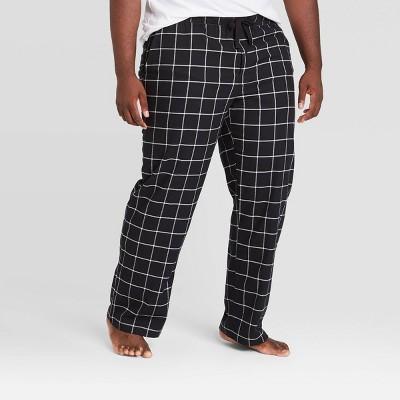 Men's Big & Tall Windowpane Plaid Flannel Pajama Pants - Goodfellow & Co™