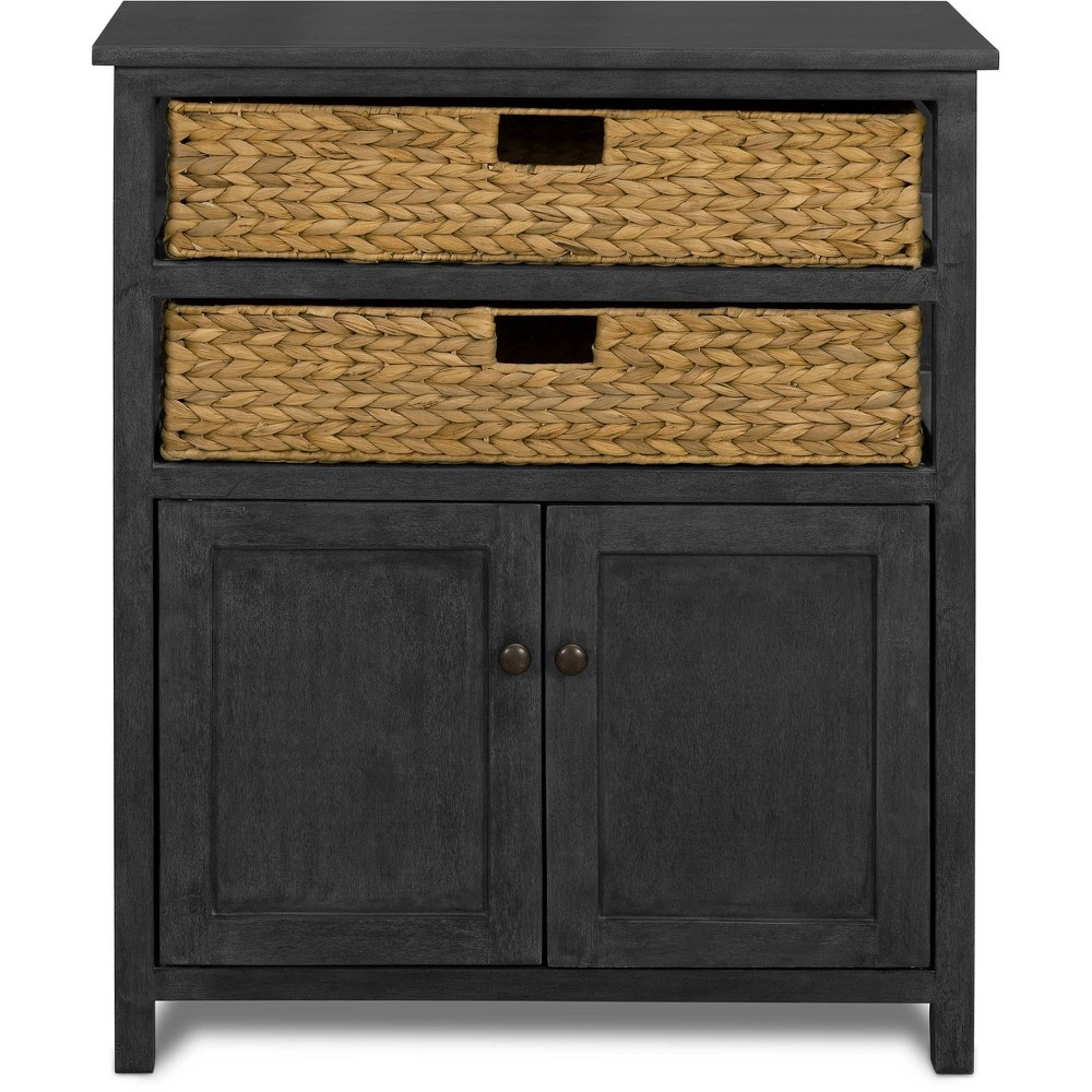 Image of Elmhurst Cabinet Black and Weathered - Click Décor, Gray