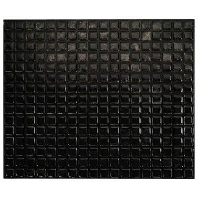 "Smart Tiles 3D Peel and Stick Backsplash 4 Sheets of 11.55"" x 9.64"" Kitchen and Bathroom Wallpaper Minimo Nero"