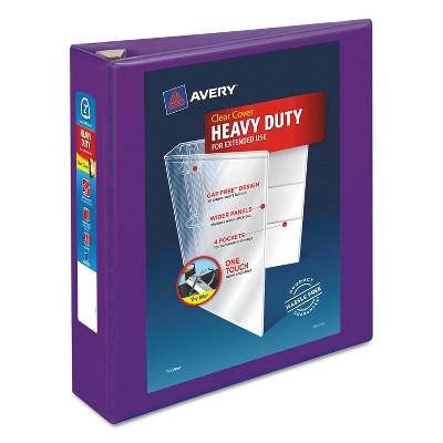 """Avery Heavy-Duty View Binder w/Locking EZD Rings 2"""" Cap Purple 79777"""