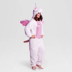 Adult Plush Unicorn Halloween Costume Jumpsuit - Hyde & EEK! Boutique™