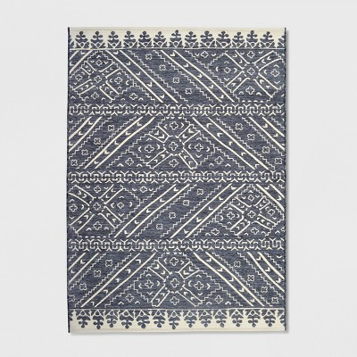 5' x 7' Royal Stripe Outdoor Rug Charcoal - Opalhouse™