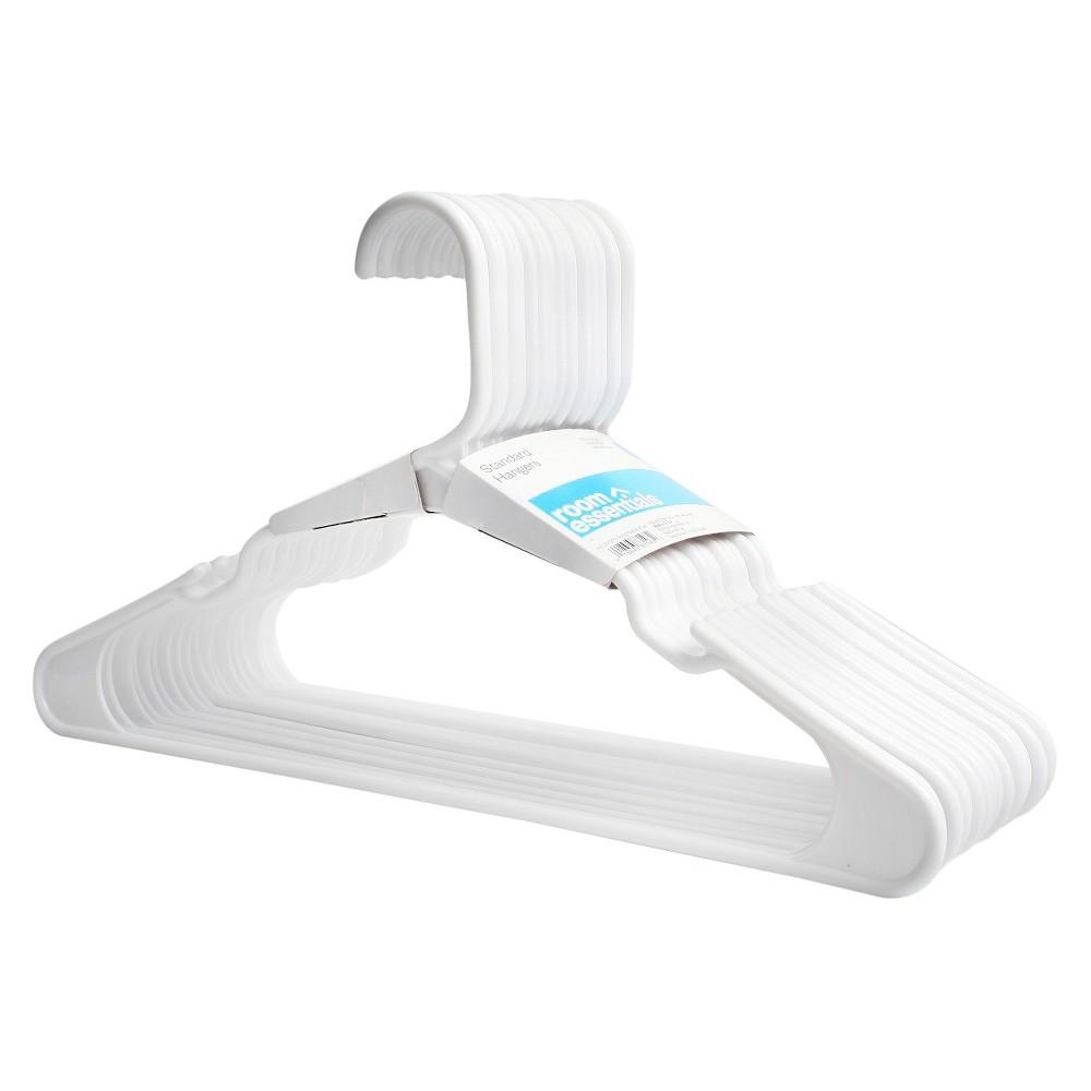 18-Pack Plastic Hangers - White - Room Essentials
