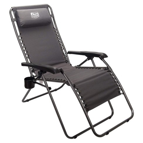 Timber Ridge FC-630-68080 Zero Gravity Locking Outdoor Patio Sun Lounger Recliner Lounge Chair with Cupholder, Gray - image 1 of 3