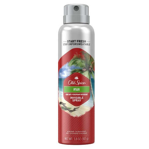 Old Spice Fresher Collection Fiji Invisible Spray Antiperspirant and Deodorant - 3.8oz - image 1 of 2