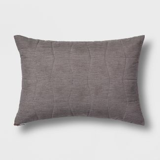 Quilted Geo Lumbar Throw Pillow Gray - Project 62™
