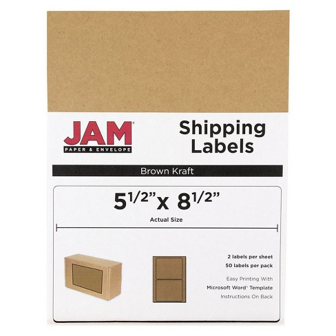 """JAM Paper® Shipping Labels 5.5"""" x 8.5"""" 50ct - image 1 of 2"""