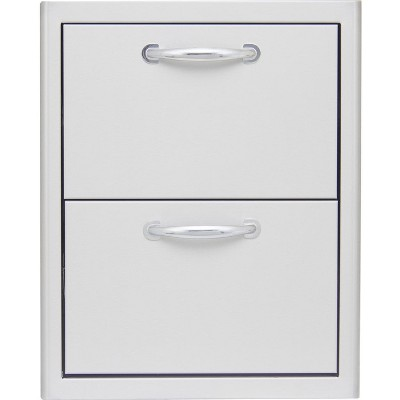 Blaze  16-Inch Stainless Steel Double Access Drawer BLZ-DRW2-R.