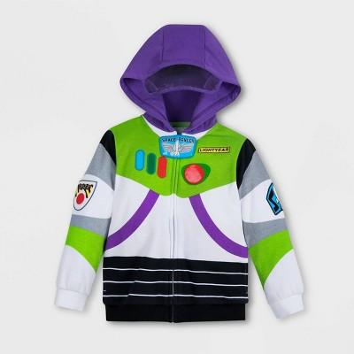 Boys' Disney Toy Story Buzz Lightyear Activewear Sweatshirt - Green/White/Purple - Disney Store