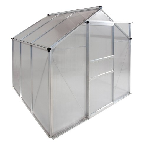 6'X 6' Walk-In Aluminum Greenhouse Clear - OGrow - image 1 of 4