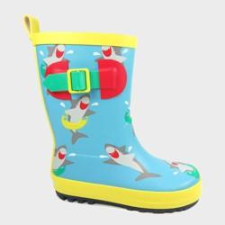 Boys' Rain Boots Shark Blue - Sun Squad™