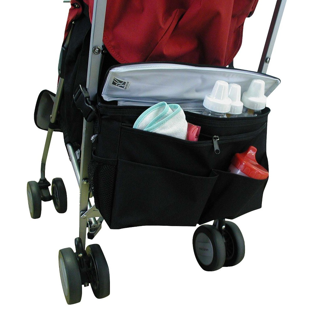 JL Childress Cool 'N Cargo Stroller Cooler, Black