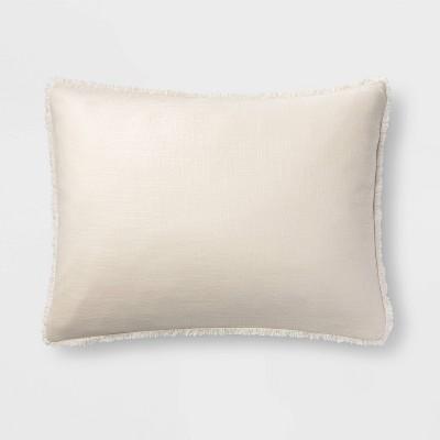 Standard Heavyweight Linen Blend Pillow Sham Natural - Casaluna™