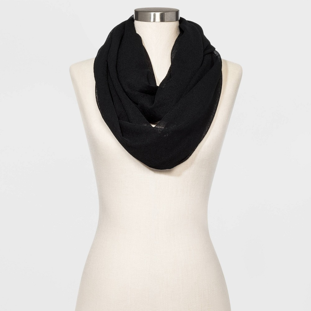 Image of Women's Infinity Scarf - A New Day Black One Size, Women's