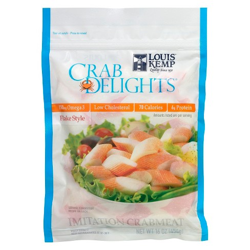 Louis Kemp Crab Delights Flake Style Imitation Crabmeat -16oz - image 1 of 1