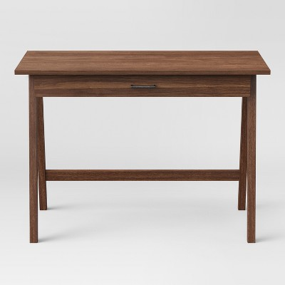 Paulo Wood Writing Desk with Drawer Walnut - Project 62™