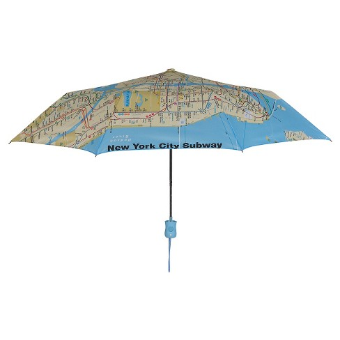 Auto Open Compact Umbrella - NYC Subway Map - image 1 of 1