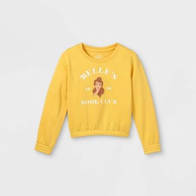 Girls' Disney Belle Pullover Sweatshirt - Yellow