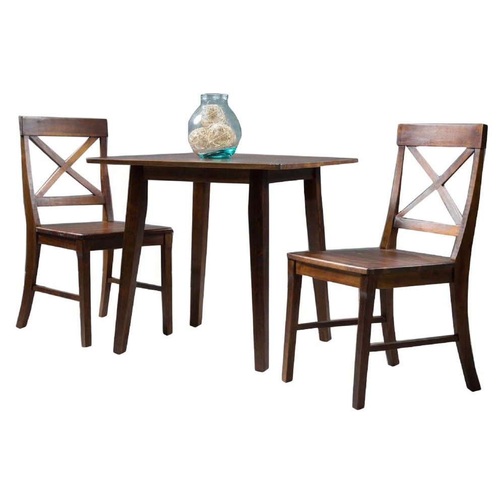 Carridge 3pcSquare Dining Set Rich Mahogany (Brown) - Christopher Knight Home