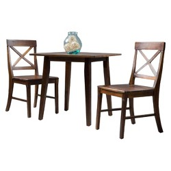 Carridge 3pcSquare Dining Set Rich Mahogany - Christopher Knight Home