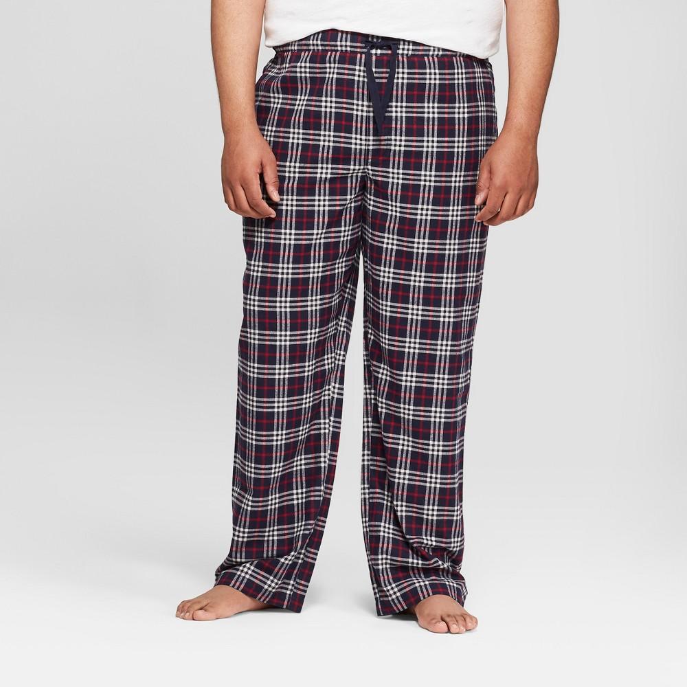 Men's Big & Tall Plaid Lounge Flannel Pajama Pants - Goodfellow & Co Federal Blue 2XB