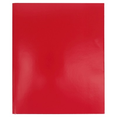 2 Pocket Paper Folder with Prongs Red - Pallex