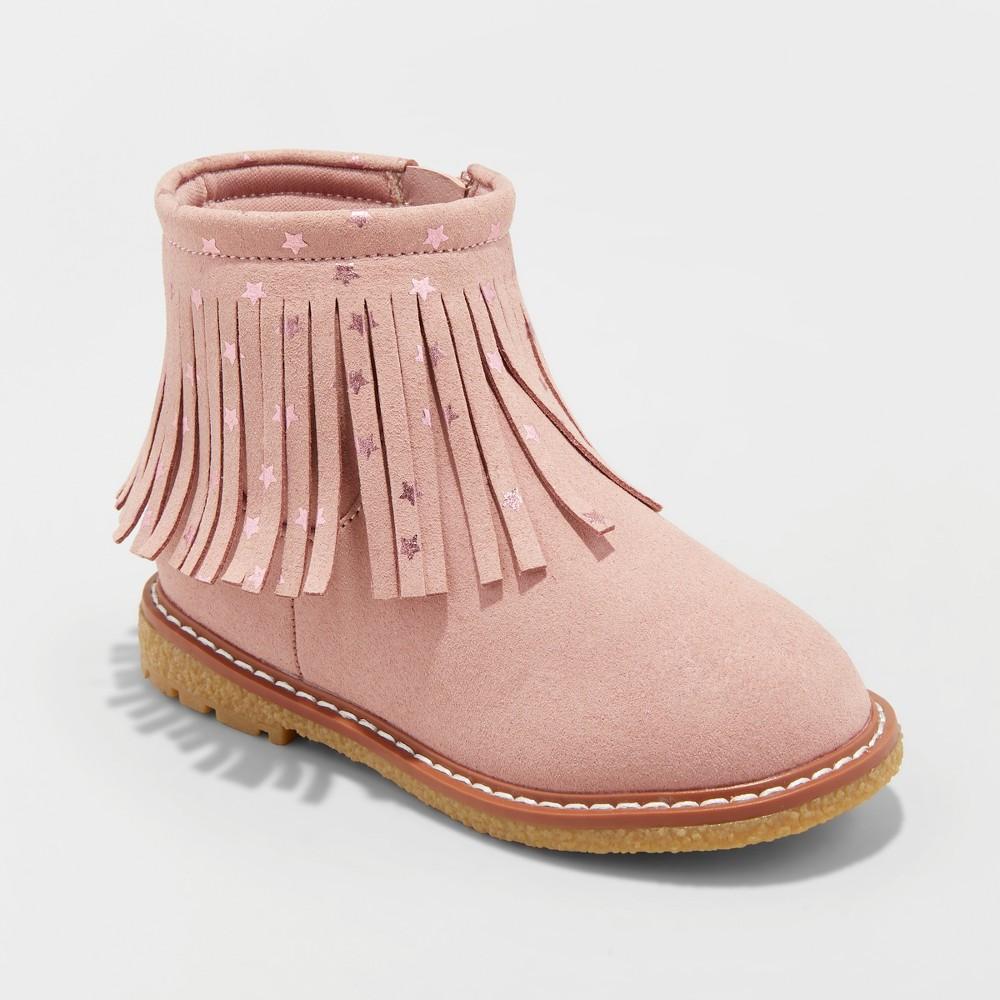 Toddler Girls' Jamayka Ankle Boot with Metallic - Cat & Jack Pink 6