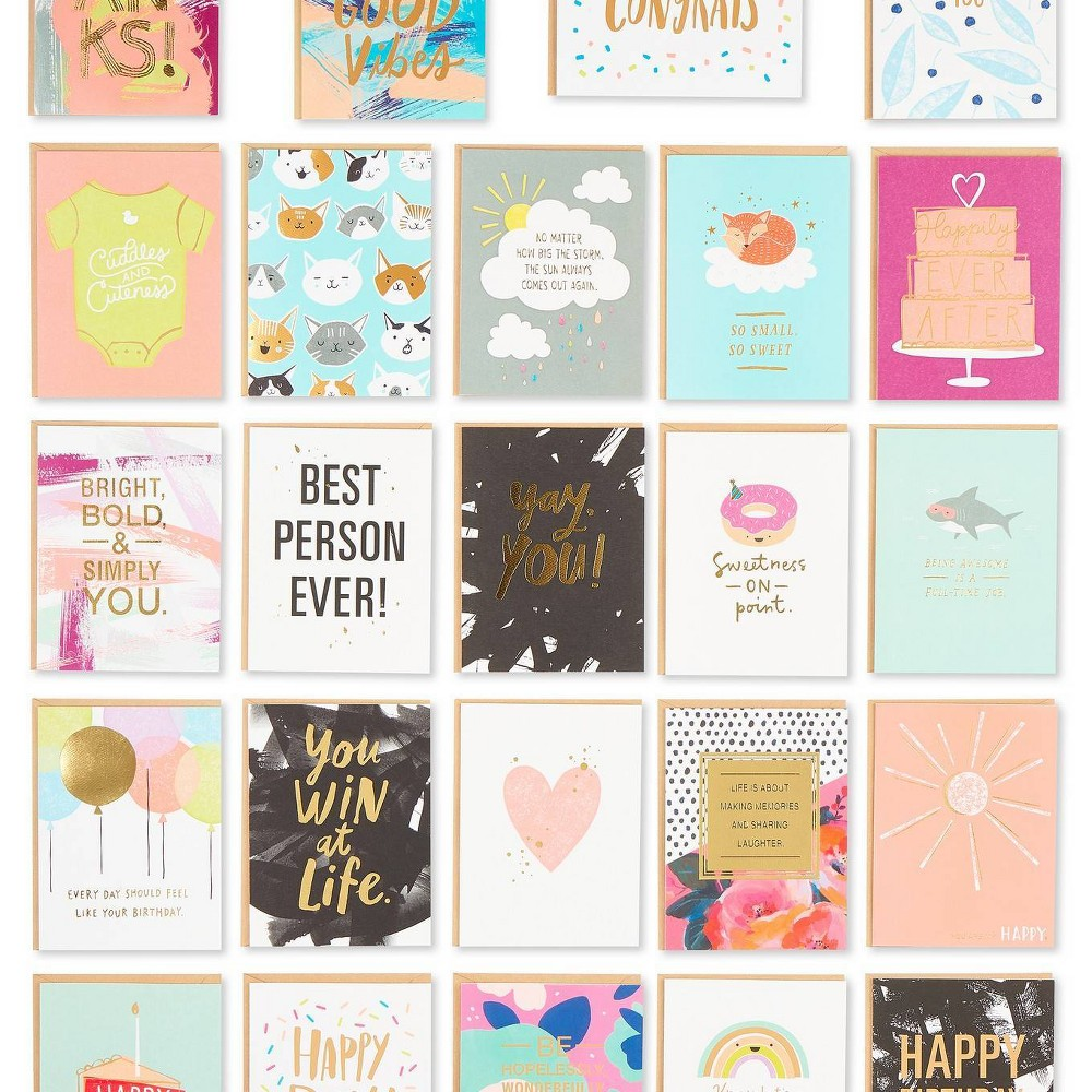 Image of 24ct All Occasion Premium Greeting Card Assortment, White