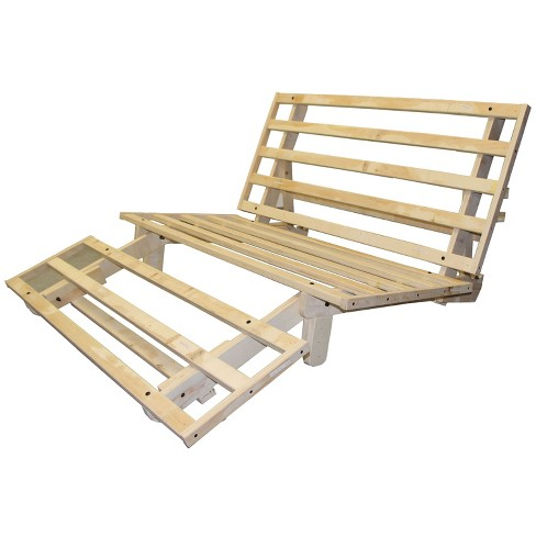 Austin All Wood Sit, Lounge, Or Sleep Futon Frame - New Oat - Twin ...