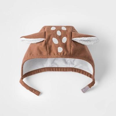 Baby Girls' Critter Bonnet Hat - Cat & Jack™ Brown Newborn