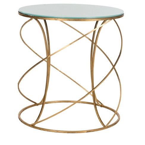 Cagney Accent Table - White/Gold - Safavieh® - image 1 of 3