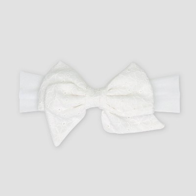 Baby Girls' Bow Headwrap - Just One You® made by carter's White