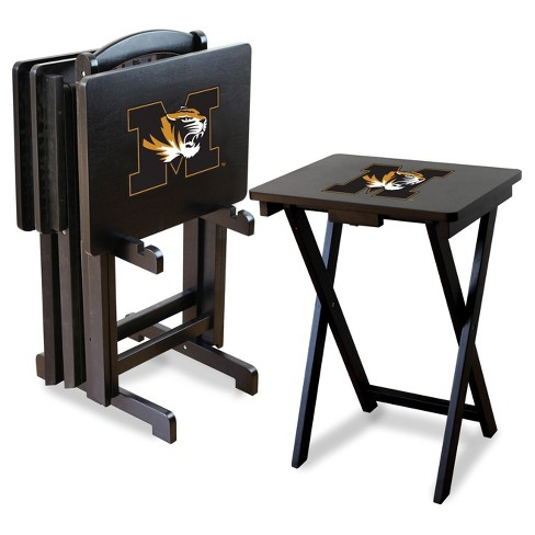 NCAA Imperial TV Trays with Stand -  4pk Missouri Tigers - image 1 of 1