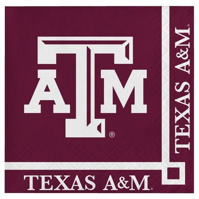 20ct Texas A&M Aggies Cocktail Beverage Napkins - NCAA