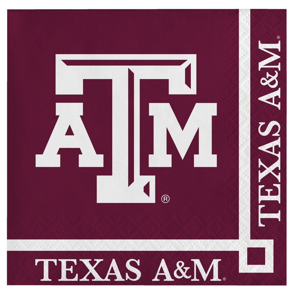 Image of 20ct Texas A&m Aggies Cocktail Beverage Napkins