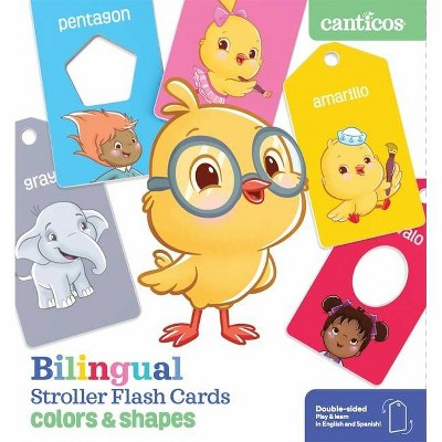 Bilingual Stroller Flash Cards: Colors & Shapes - by  Susie Jaramillo (Board Book)