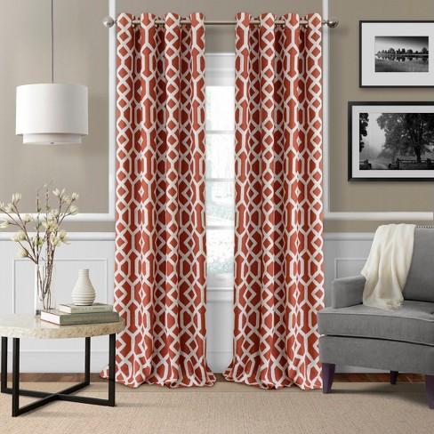 Grayson Trellis Room Darkening Window Curtain Panel - Elrene Home Fashions - image 1 of 4