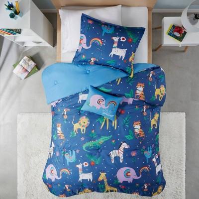 Rainbow Jungle Comforter Set