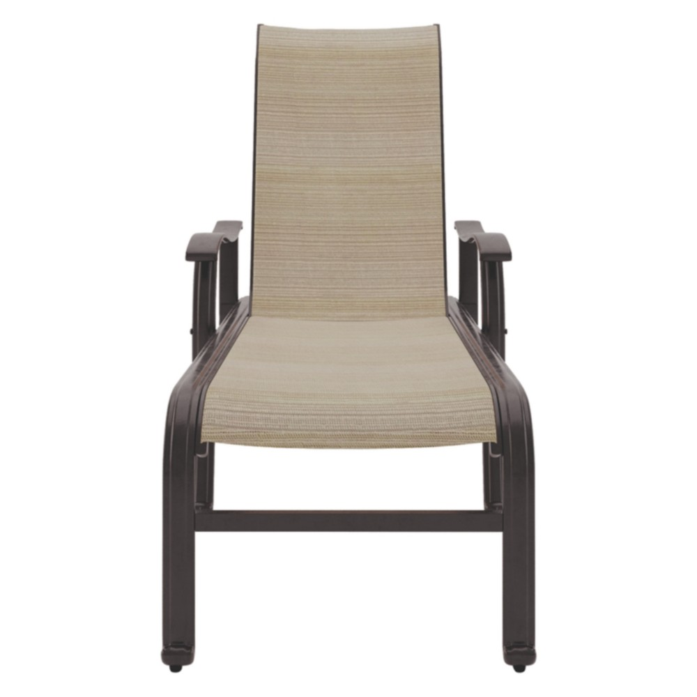Bass Lake Sling Chaise Lounge - Beige/Brown - Outdoor by Ashley