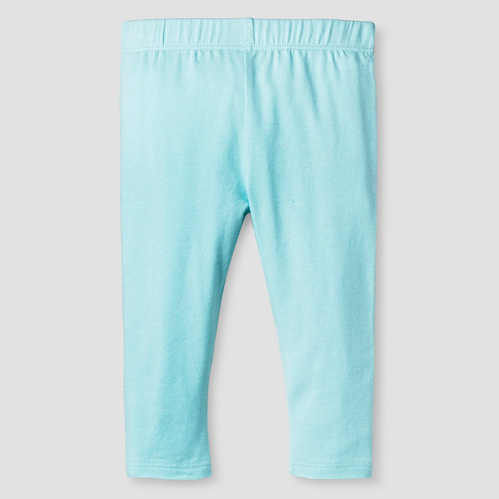 Baby Girls' Solid Leggings - Cat & Jack Turquoise 3-6M, Pastel Turquoise